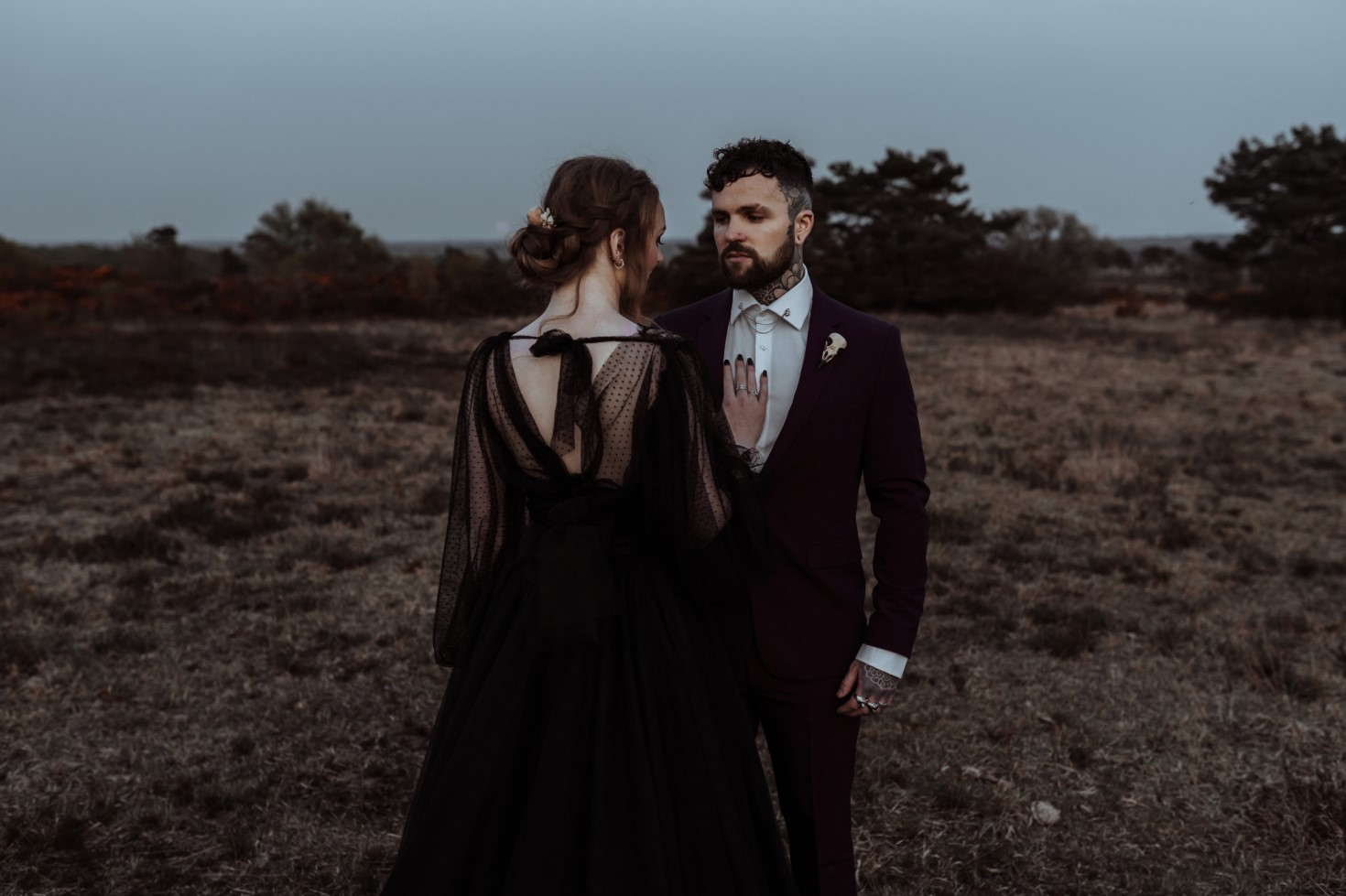 Finn And The Fox Photography-Moody Elopement Wedding- alternative wedding - gothic wedding - black wedding dress