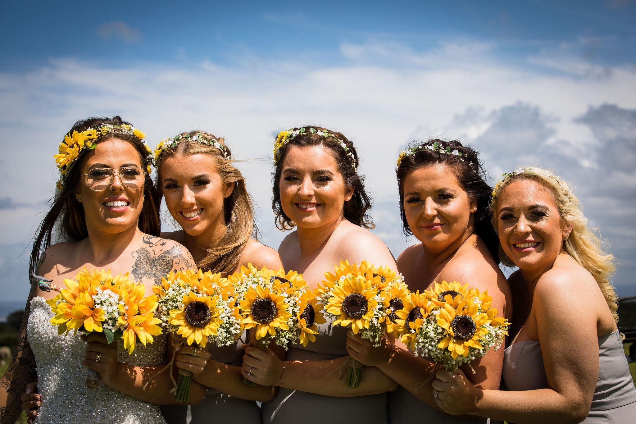 Harriet&Rhys Wedding - Magical sunflower wedding - quirky wedding with dodgems (49)