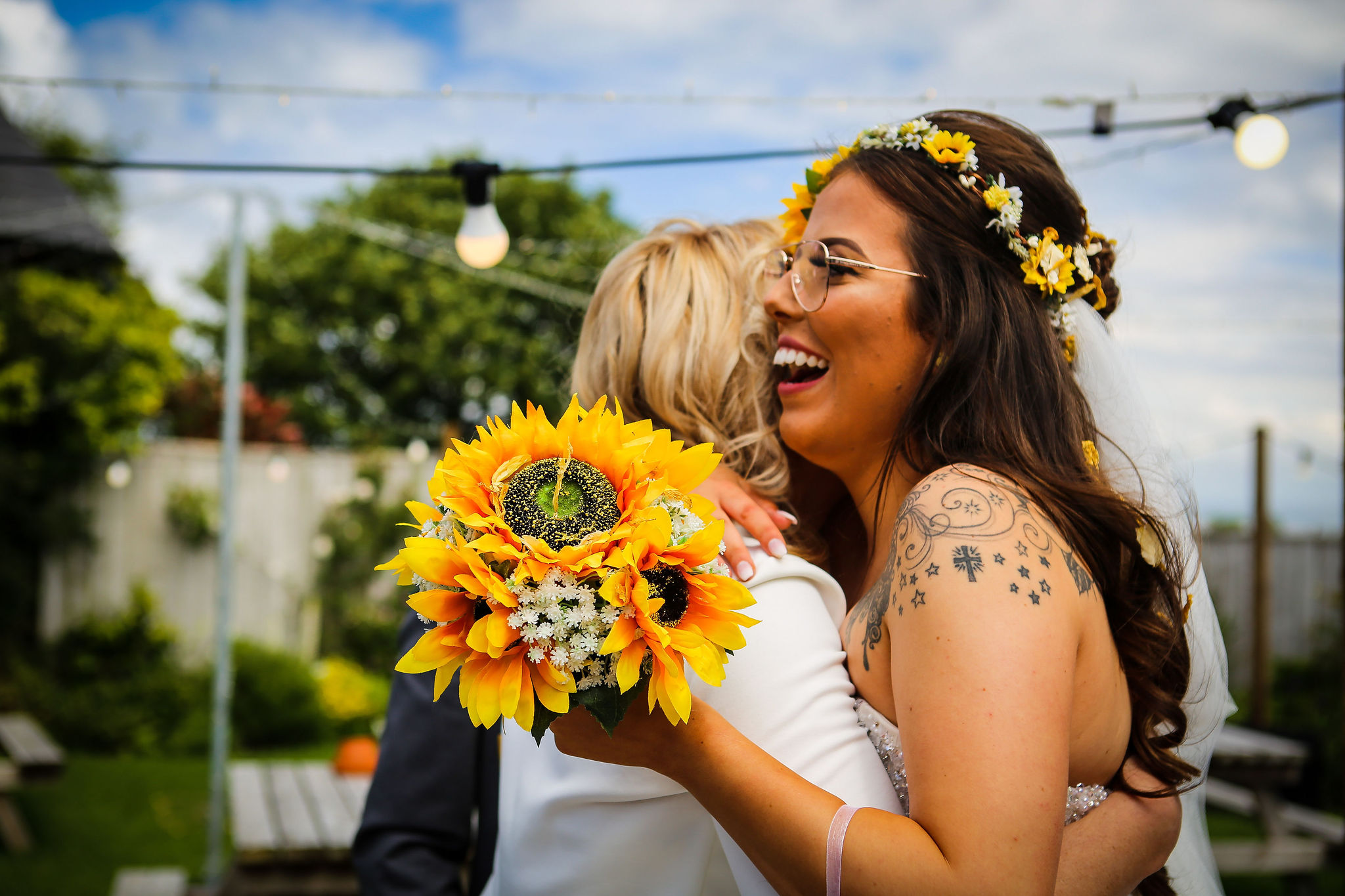Harriet&Rhys Wedding - Magical sunflower wedding - quirky wedding with dodgems (74)
