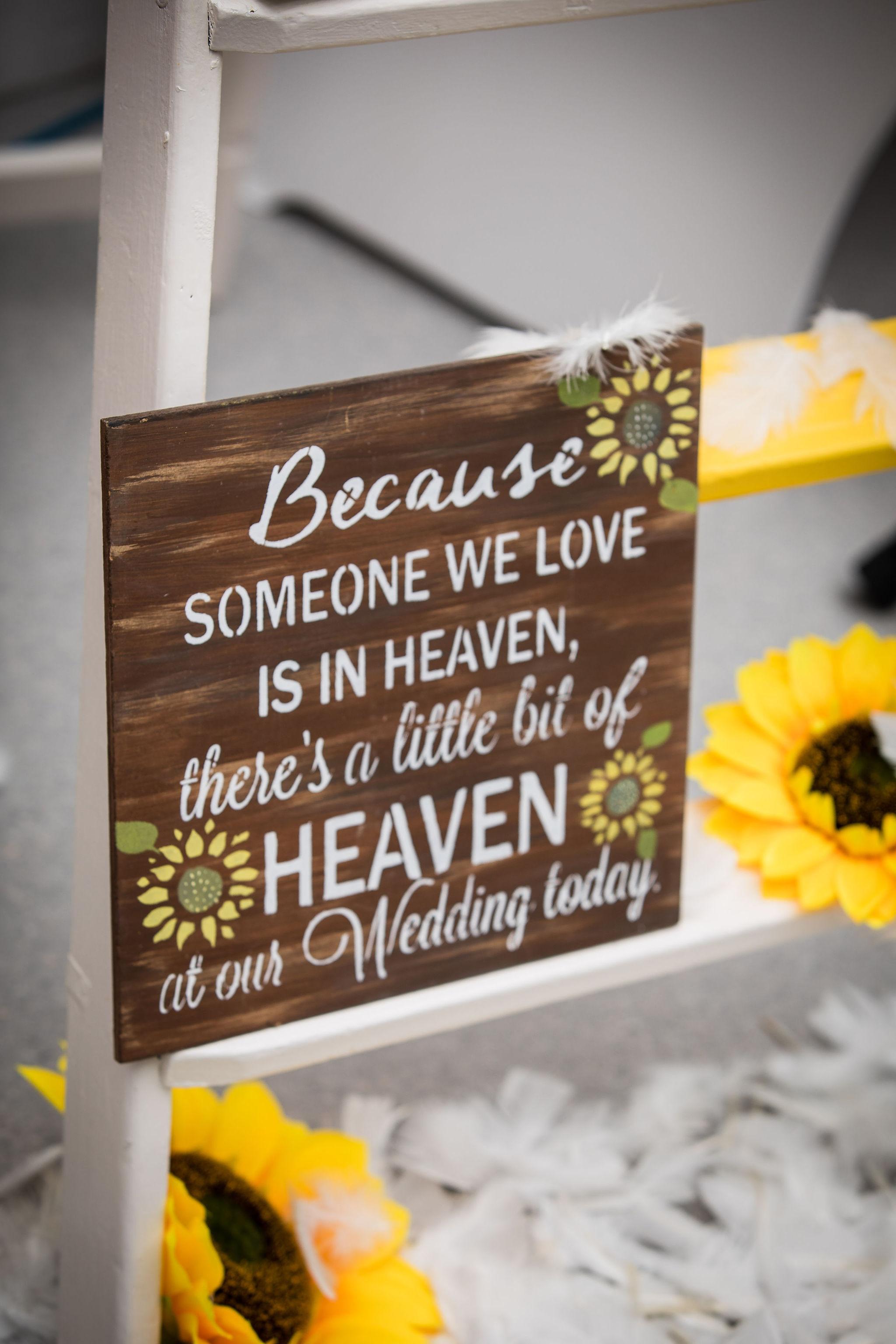 Harriet&Rhys Wedding - someone in heaven sign