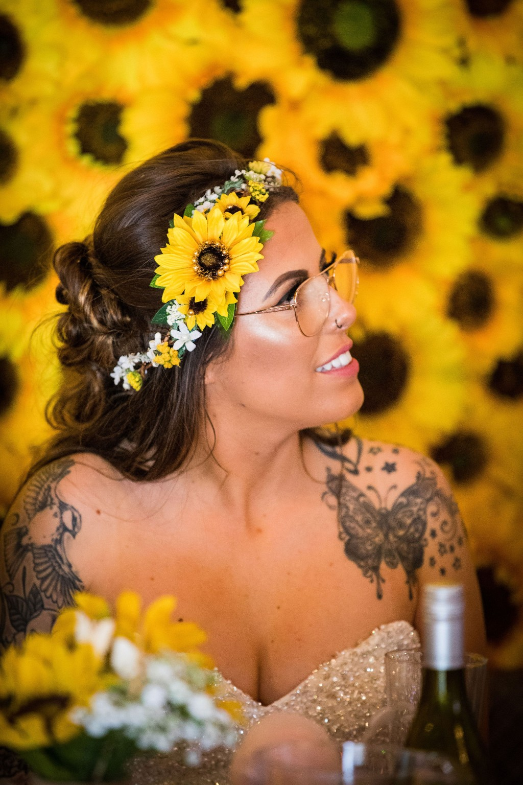Harriet&Rhys Wedding - Magical sunflower wedding - sunflower bride