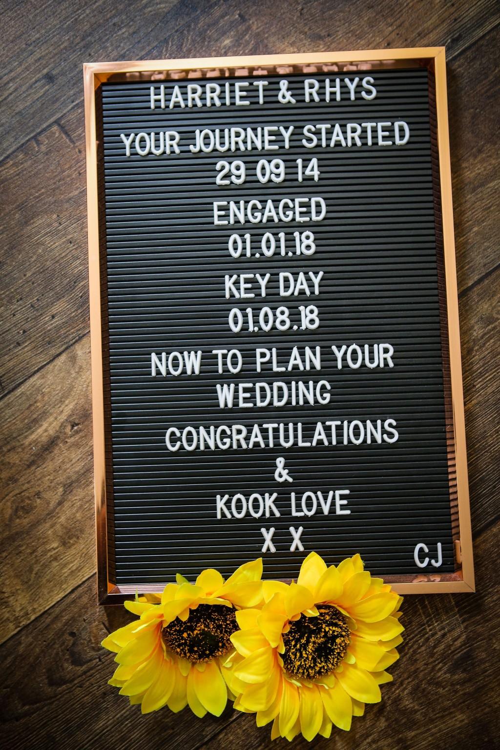 Harriet&Rhys Wedding - Magical sunflower wedding - sunflower key events timeline