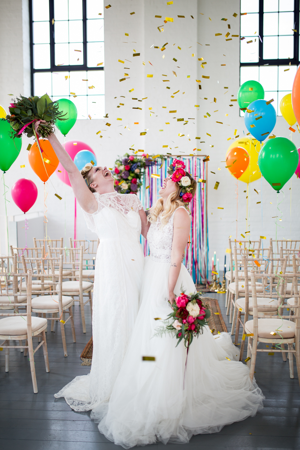 Cool and colourful wedding- Florence Berry Photography- Colourful Wedding- Rainbow Wedding- Unique Wedding- Unconventional Wedding- Wedding Ideas- Unique Wedding Dress- Wedding Planning- Quirky Wedding