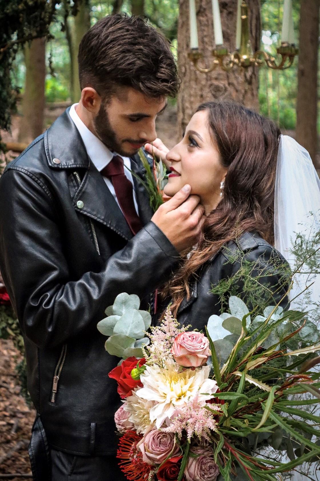 Cole Photography- Boho Punk Wedding- Unconventional Wedding- Quirky Wedding- Alternative Wedding- Unique Wedding Ideas- Unique Bridal Wear- Unique Wedding Dress- Woodland Wedding- Boho Wedding- Punk Wedding