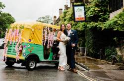 Tara the wedding tuk tuk - alternative wedding transport and photobooth - unique ways to arrive at your wedding day