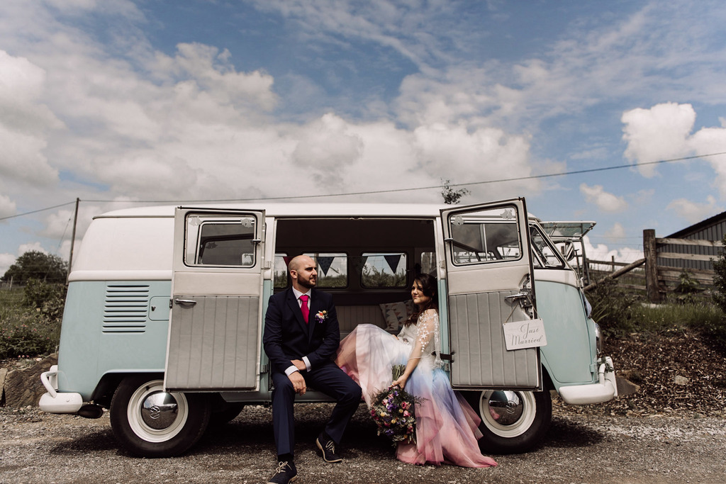 Ombre Wedding- Emma Ryan Photography- Ombre Wedding Dress- Rainbow Wedding- Colourful Wedding- Farm Wedding- Unconventional Wedding- Alternative Wedding- Unique Bridalwear- Quirky Wedding Dress