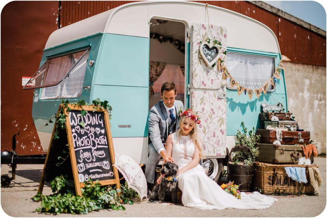 clive the caravan - quirky caravan weddding photoboth - devon photobooth - cornwall photobooth 1