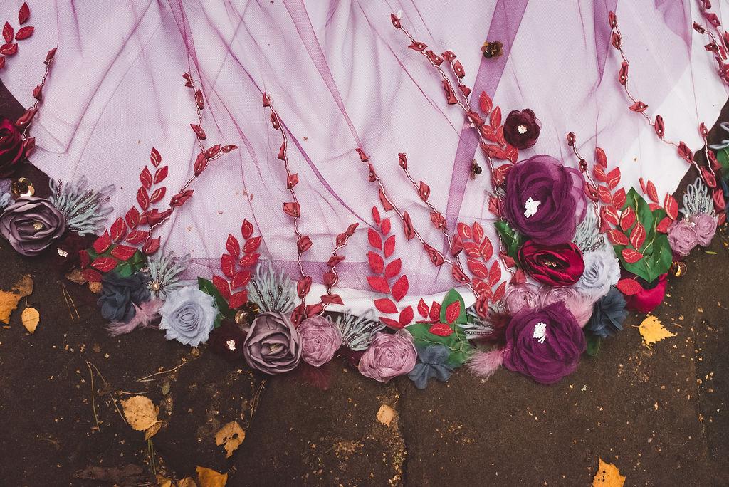 Autumn Wedding, Fantasy Wedding, Winter Wedding, Unconventional Wedding, Alternative Wedding, Alternative Wedding Dress- Bridal Cape- Unique Wedding Ideas