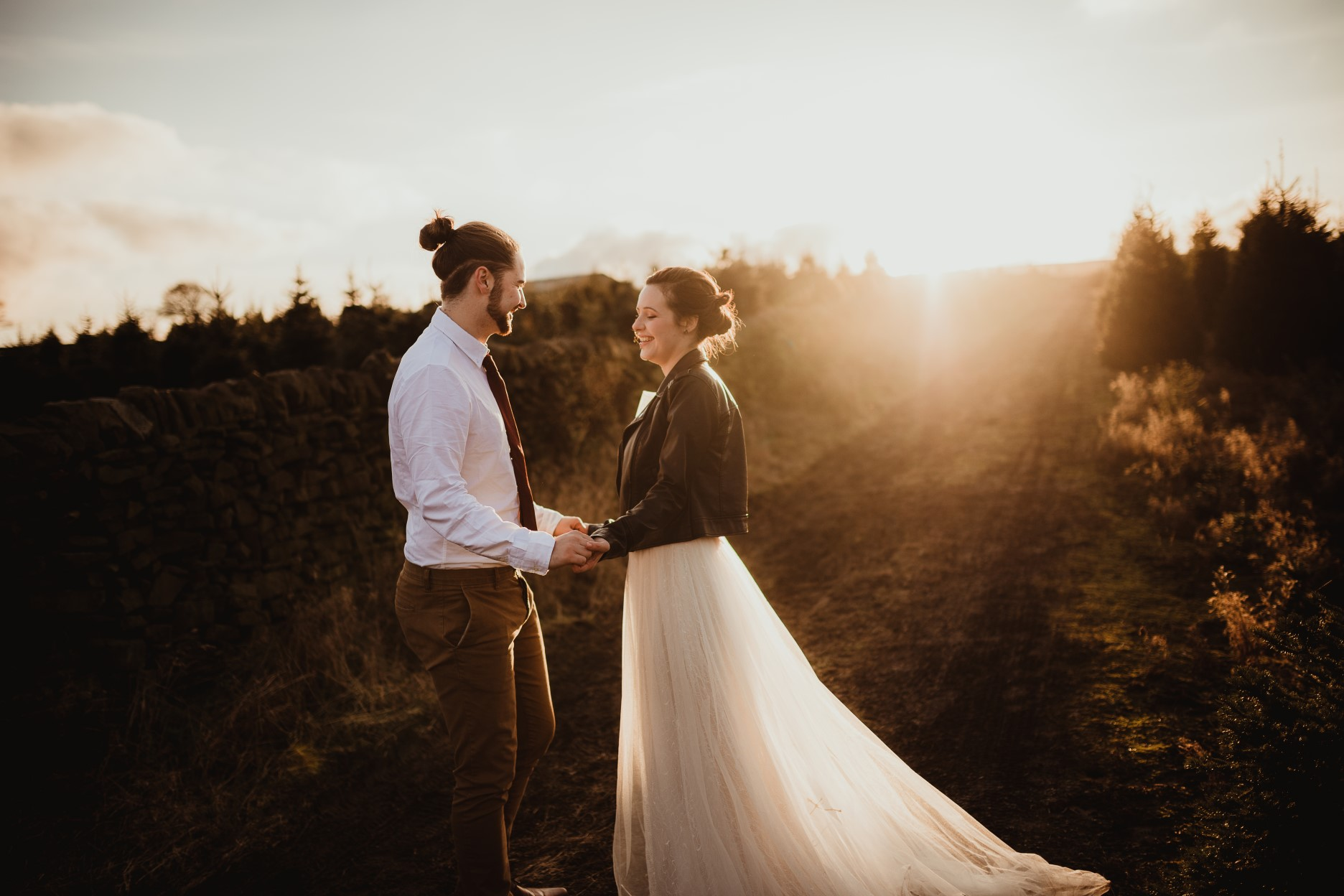 christmas elopement wedding- alternative wedding- christmas wedding- fly on the wall photography- wedding at a christmas tree farm- artistic wedding photography