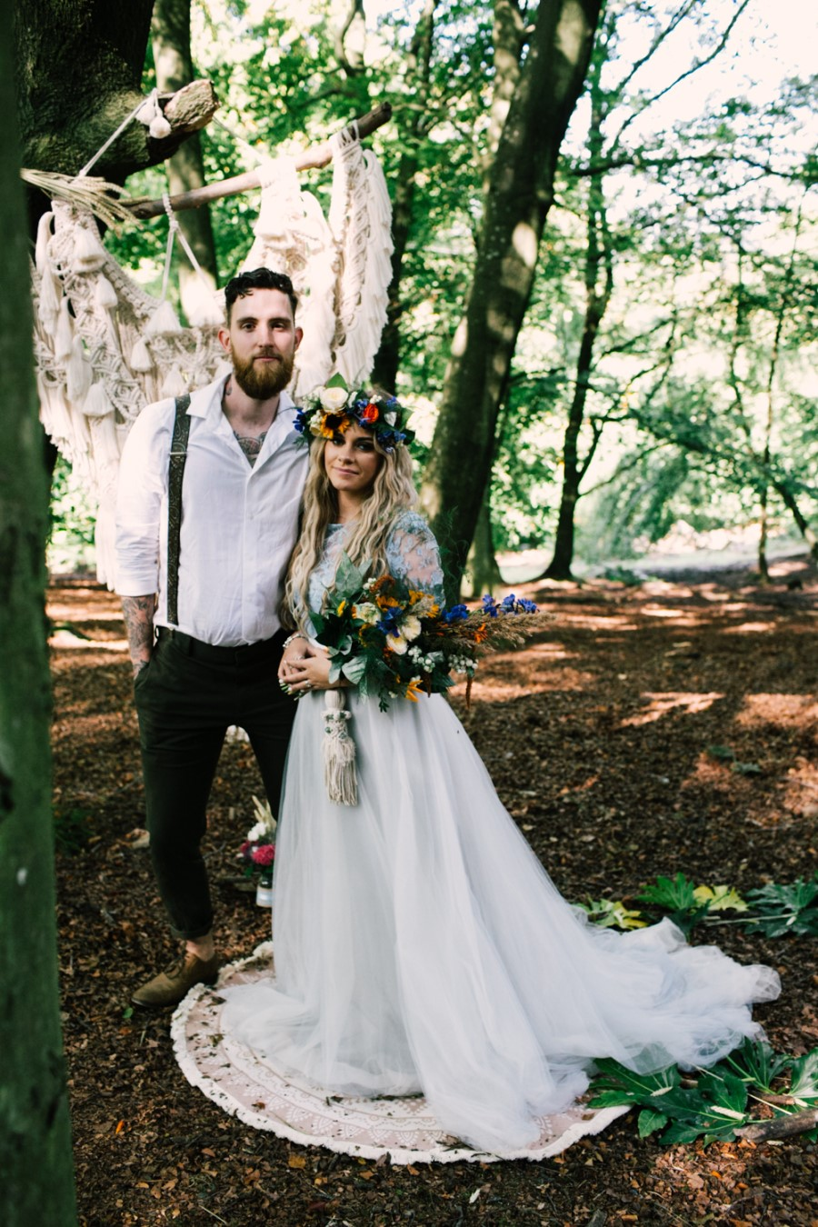 micro-wedding - forest elopement - small weddings - alternative wedding - outdoor wedding - covid wedding - bohemian couple