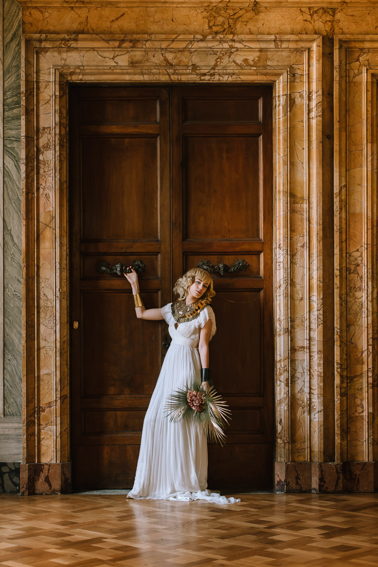 Wedding Inspiration- Marcella Cistola- cleopatra style- unique wedding venue- wedding blog- quirky wedding inspiration