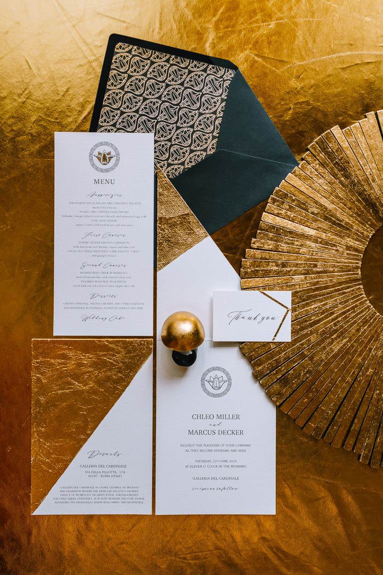 Wedding Inspiration- Marcella Cistola- Glamorous wedding stationery- unique wedding invitations- unique wedding thank yous