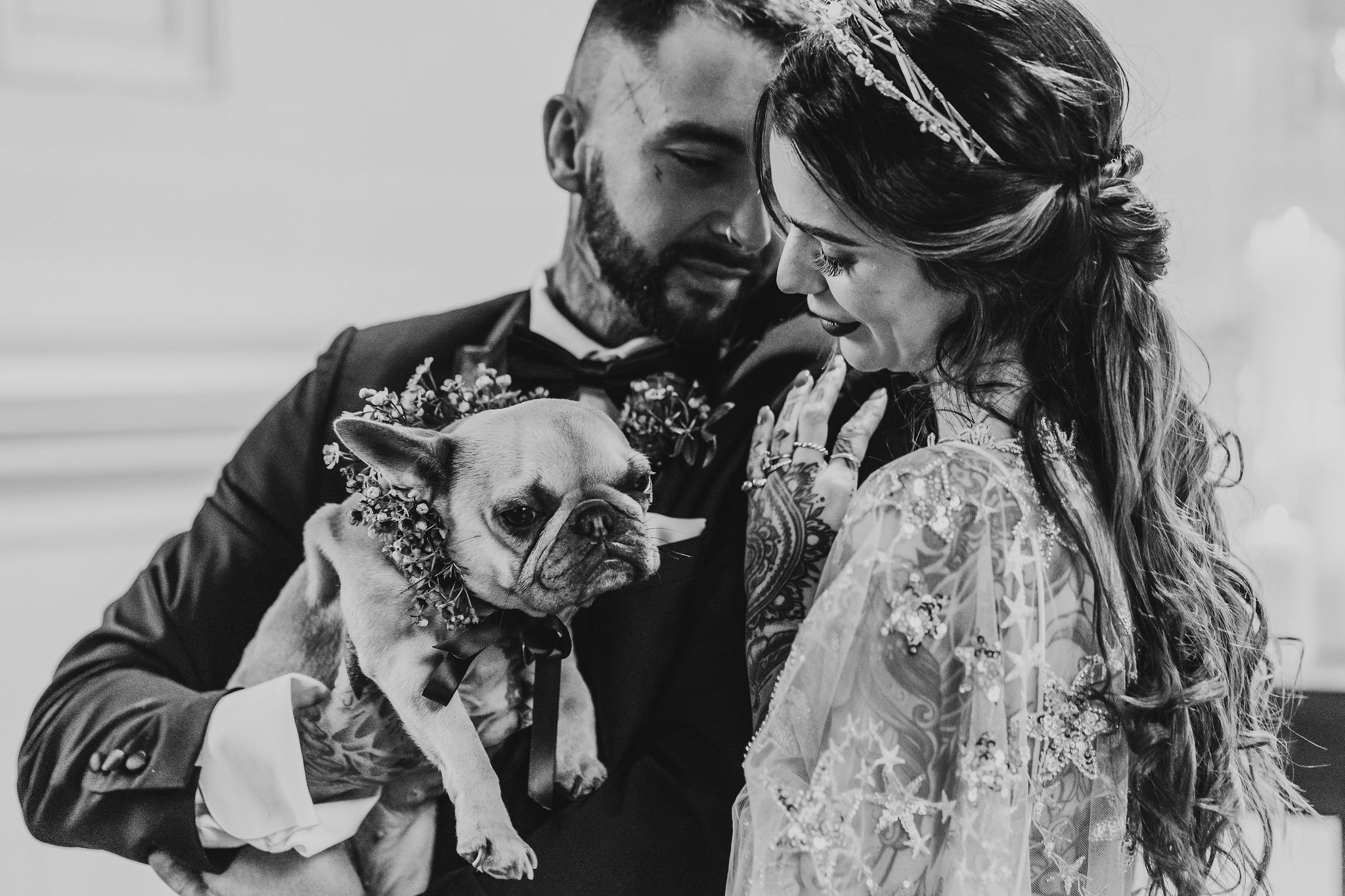 Leesha Williams Photography- Unconventional Wedding- Celestial Wedding Inspiration- alternative wedding- pugs at weddings