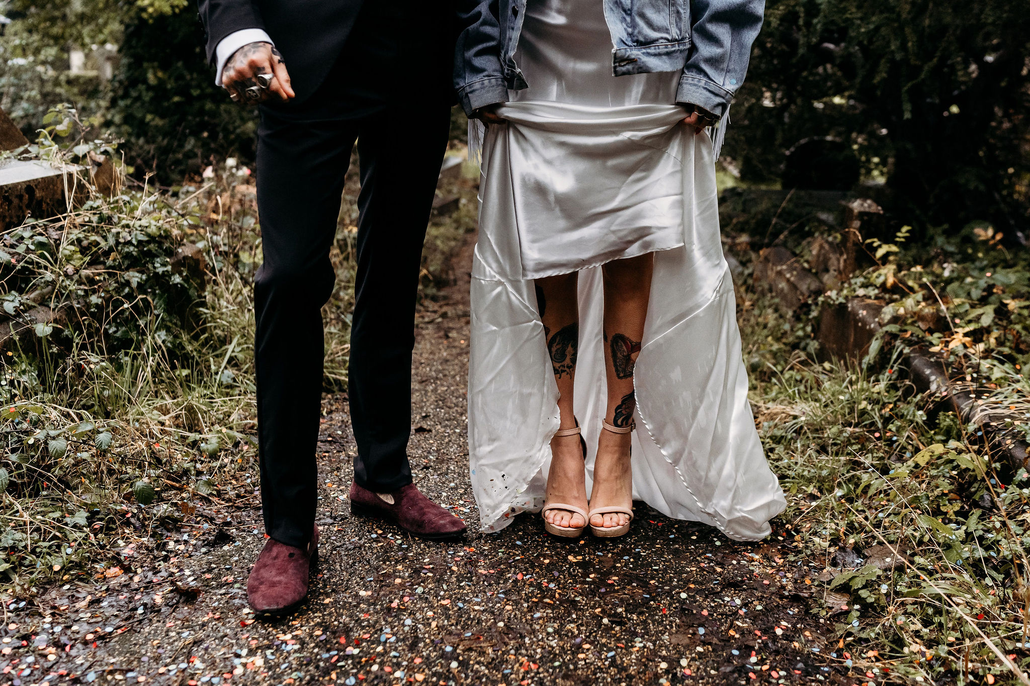 Leesha Williams Photography- Unconventional Wedding- Celestial Wedding Inspiration- alternative wedding- wedding shoes