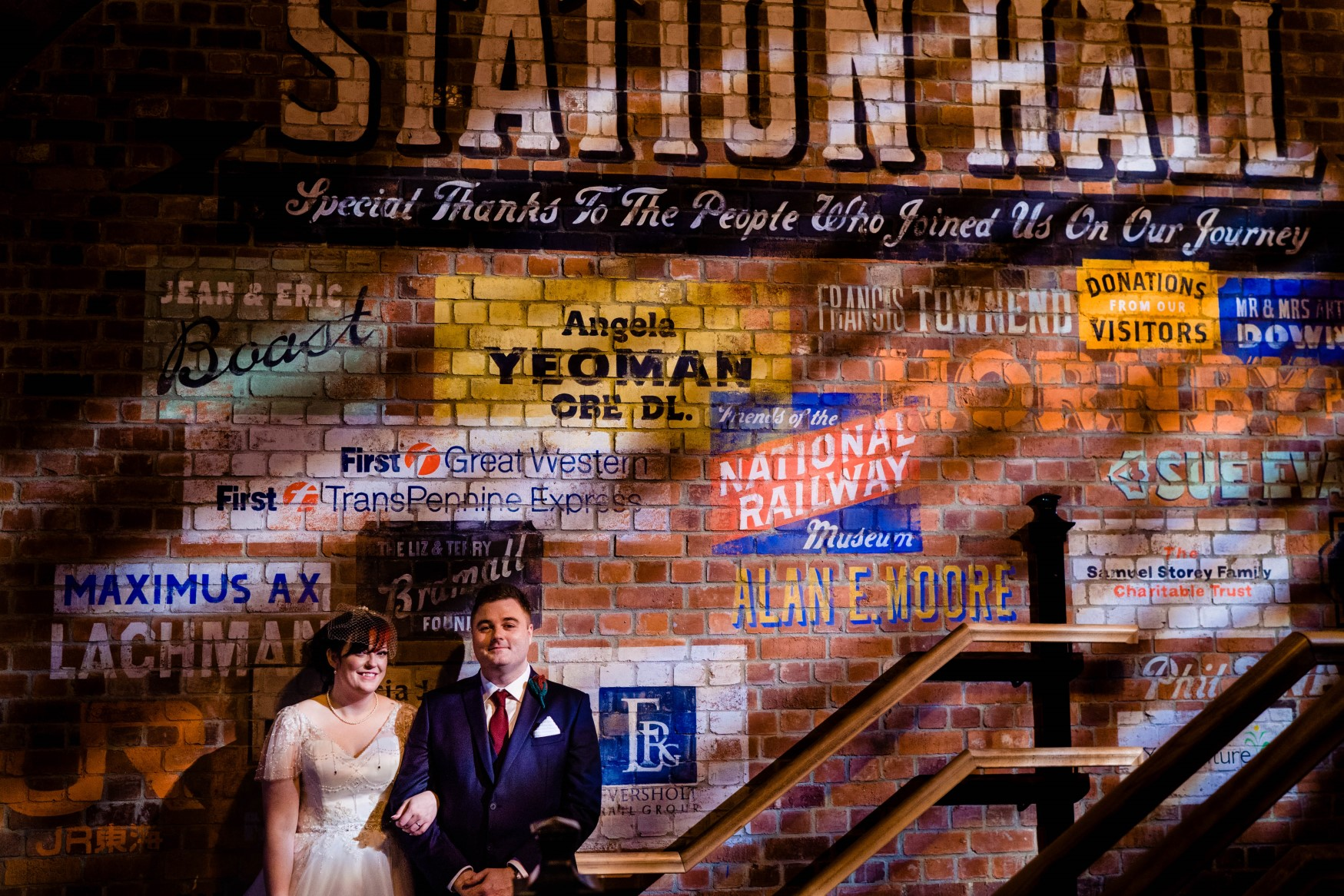 Industrial Railway Wedding- Vicki Clayson Photography- Unconventional Wedding- Unique Wedding Venue- industrial wedding venue- indurtrial wall art