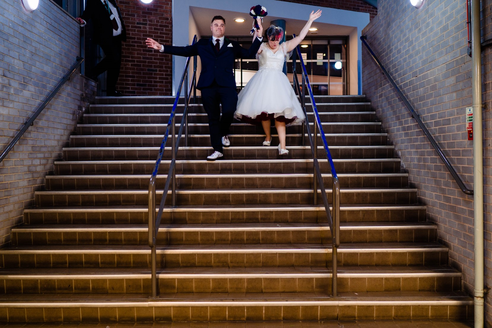 Industrial Railway Wedding- Vicki Clayson Photography- Unconventional Wedding- Unique Wedding Venue- just married