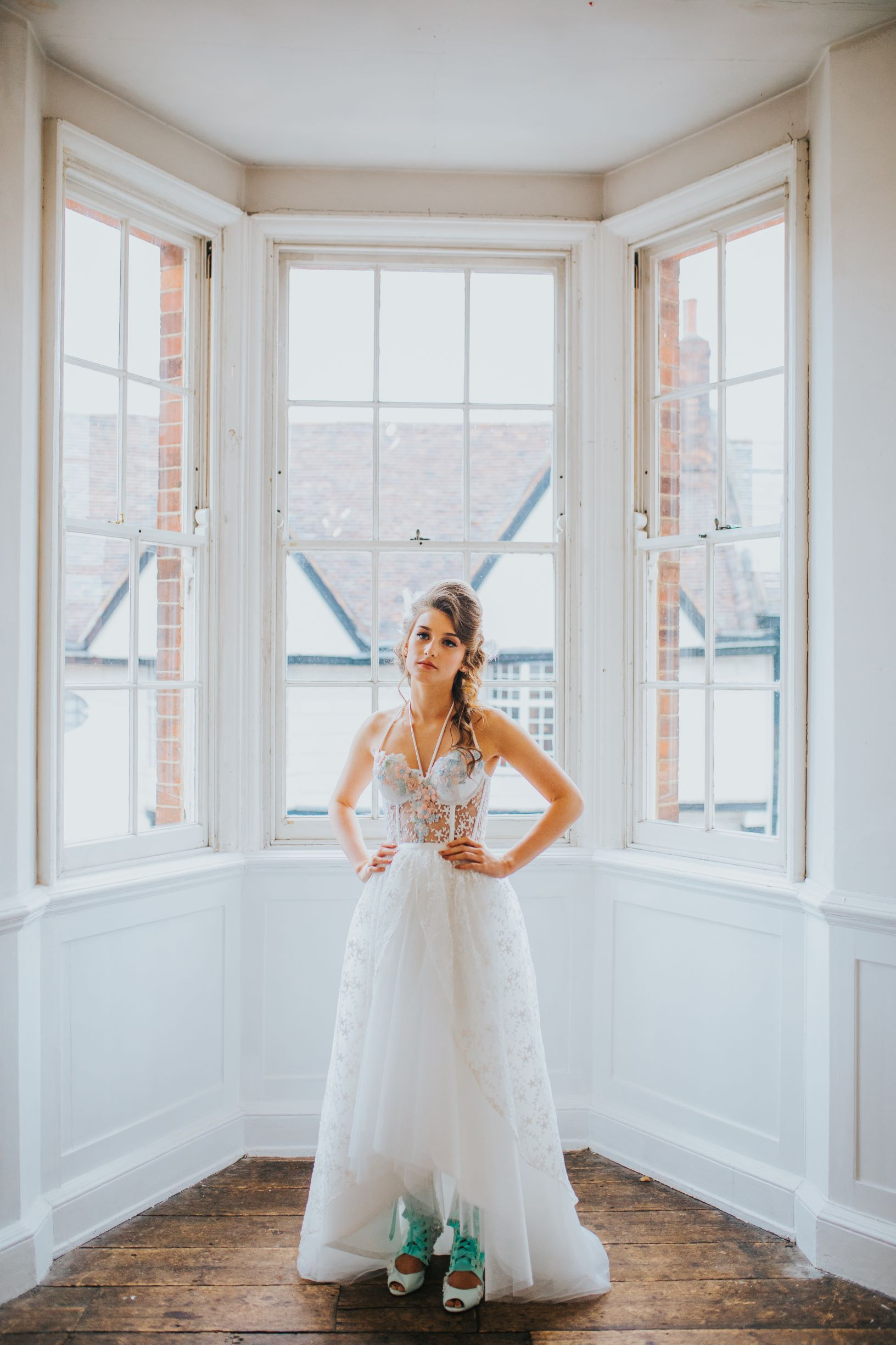 whimsical wedding- pastel wedding- laura beresford photography- unique bridalwear- alternative bridalwear