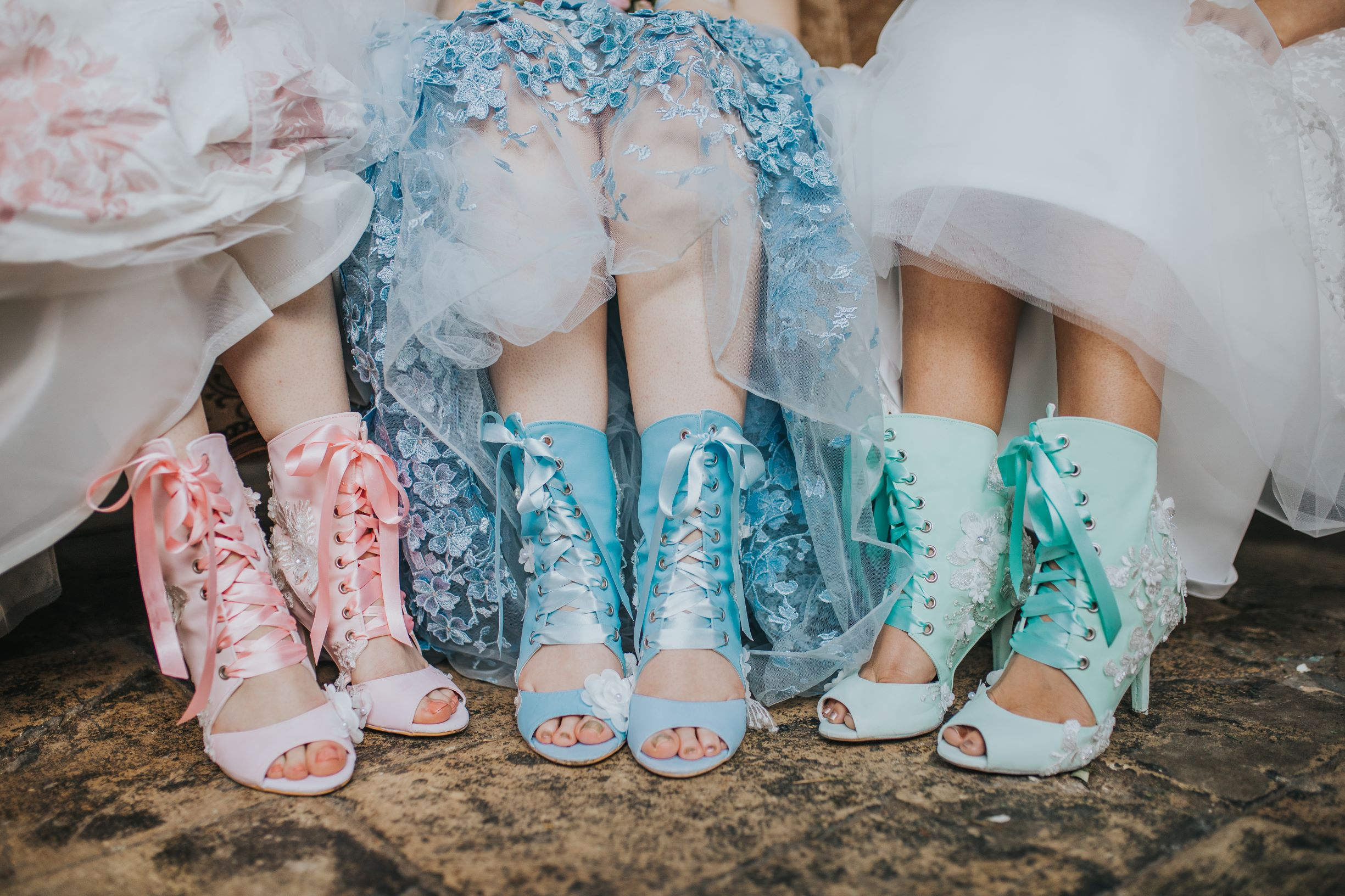 Whimsical wedding- Laura Beresford Photography- unconventional wedding- alternative wedding- colourful wedding shoes- wedding boots- unique wedding boots- colourful brides