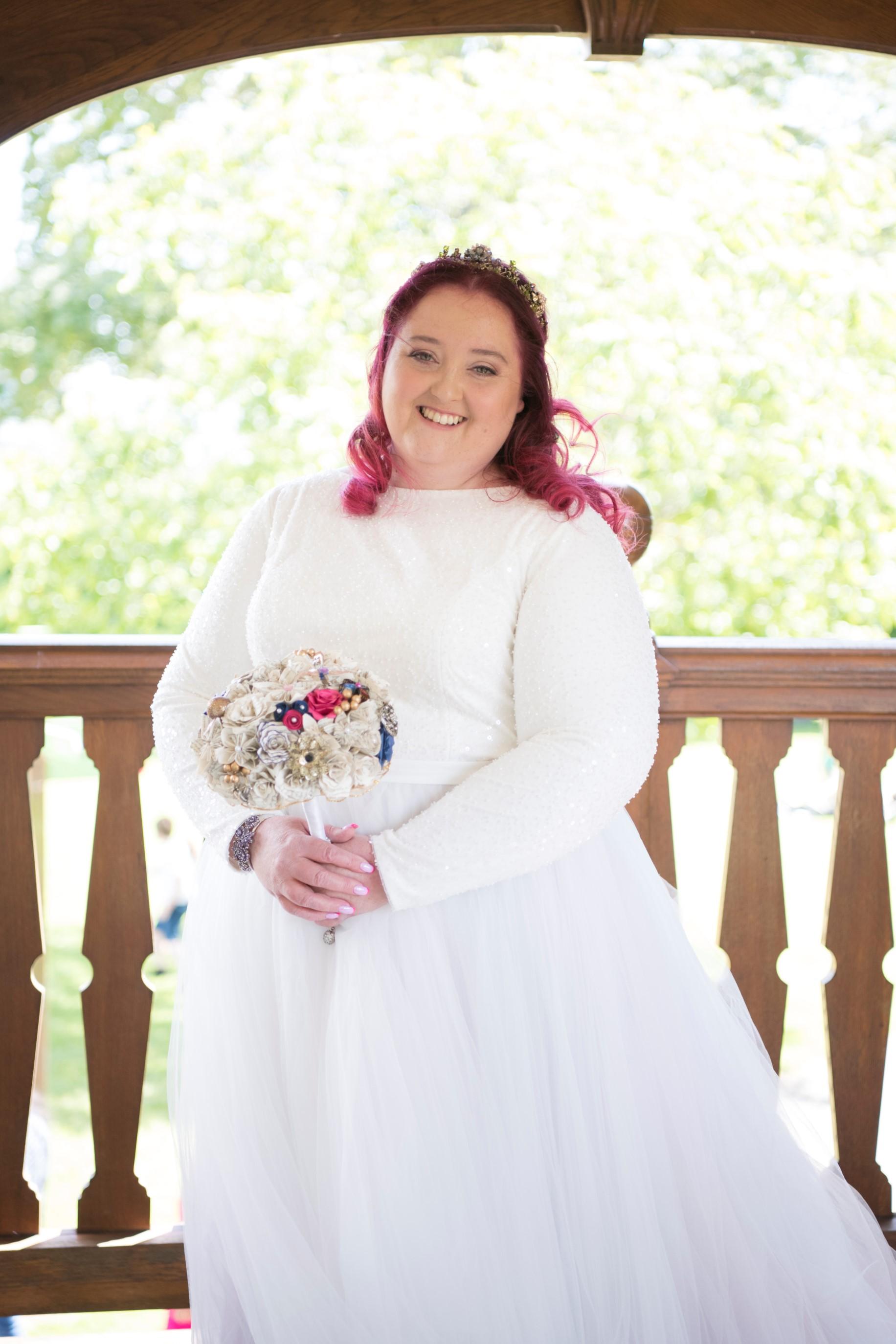 Zoo Wedding- Emma May Photography- Unconventional Wedding- Unique Wedding Inspiration- Pink Haired Bride- Alternative Wedding Bouquet
