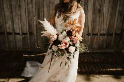 iris and co - wedding day flowers - wedding day bouquet