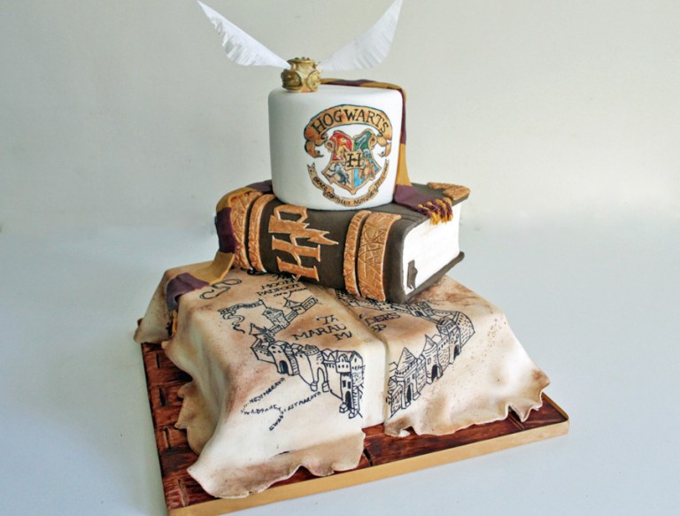 harry potter wedding cake- debbie gillespie cake design