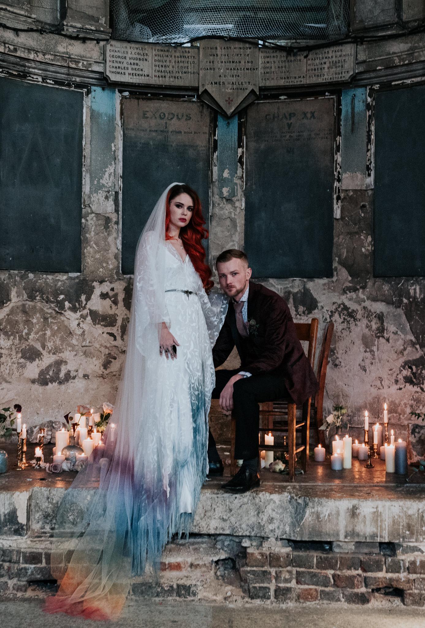 alternative chapel wedding- asylum london- unique london wedding venue- london wedding venue- Jenny Appleton Photography- chapel wedding- gothic wedding venue