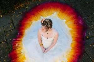 Felicity Westmacott Pheonix dipdye dress