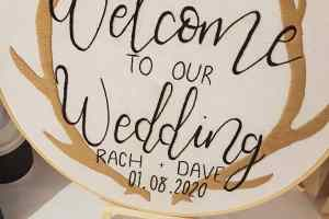 wedding calligraphy by rachel