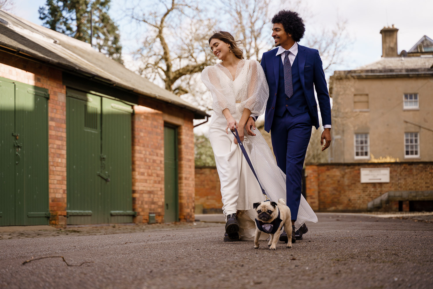 dog friendly wedding- dogs at weddings- katherine and her camera- dog wedding accessories-unconventional wedding- wedding planning advice- pets at weddings- couples photo walking dog
