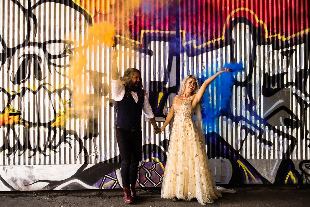 Smiley Huseyin Photography- London Wedding Photographer- Essex Wedding Photographer- Natural Wedding Photographer- Unique Wedding Photography- wedding smoke bomb photo