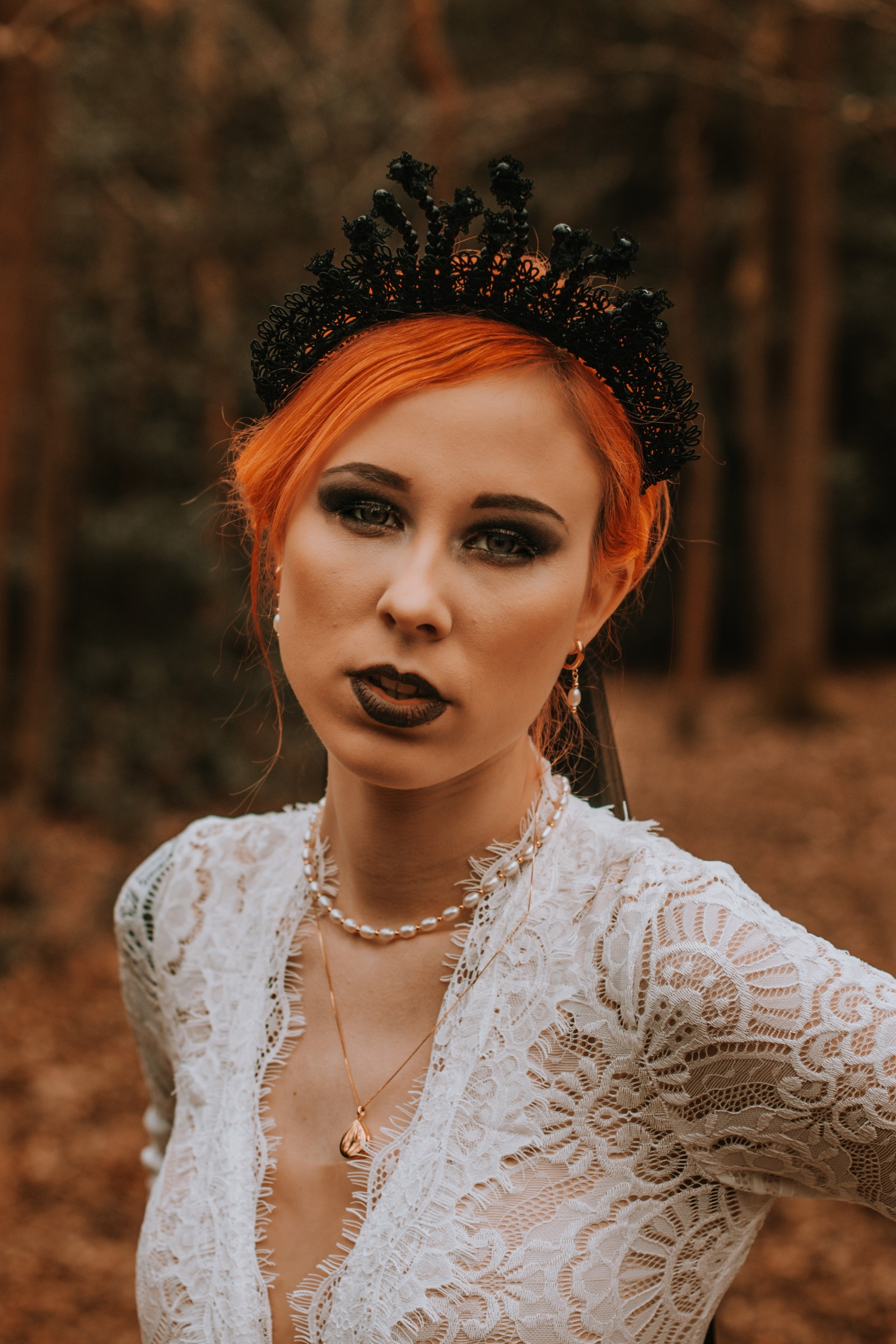 Alternative Forest Wedding - Sammy Leas Retro Emporium -Photography By Wills- alternative wedding - unconventional wedding- edgy woodland wedding- edgy bridal look