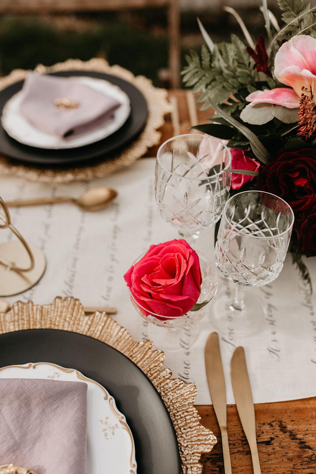 romantic woodland wedding - whimsical wedding- shakespeare wedding- unconventional wedding