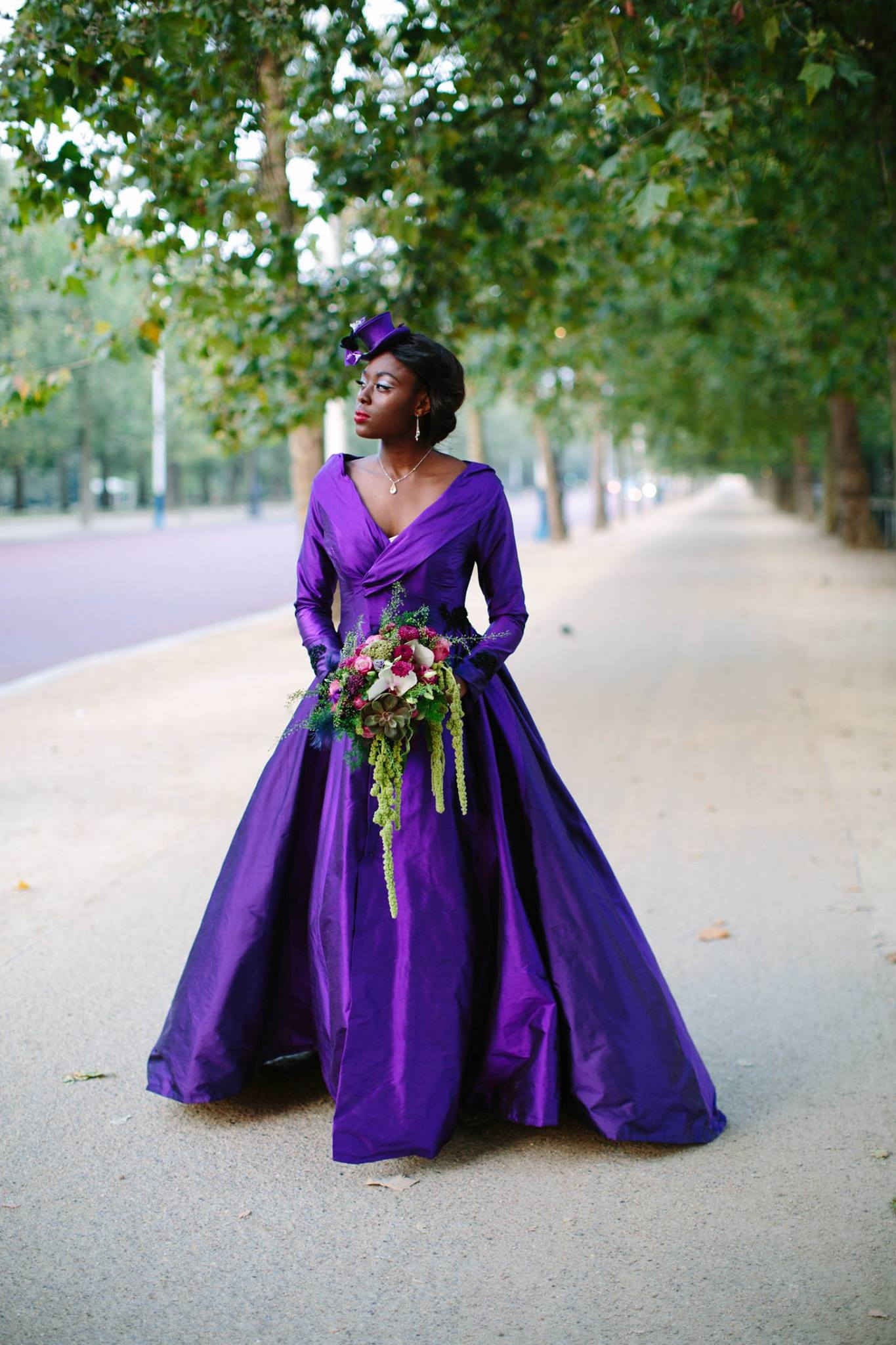 purple wedding dress- bold wedding dress- coloured wedding dresses - unconventional wedding - alternative wedding dresses - unique wedding dresses
