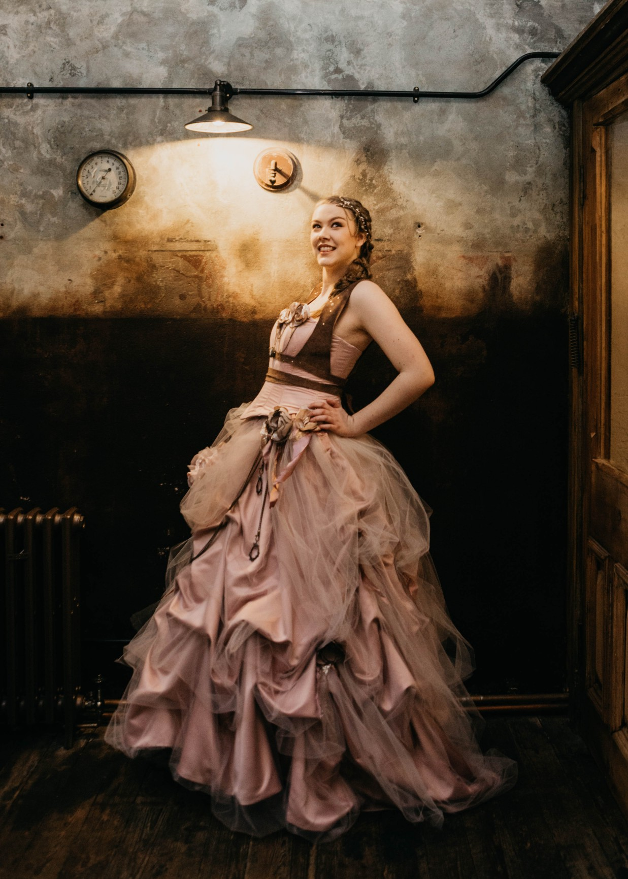 steampunk wedding dress - coloured wedding dresses - edgy wedding dress- alternative wedding dress- alternative bridalwear