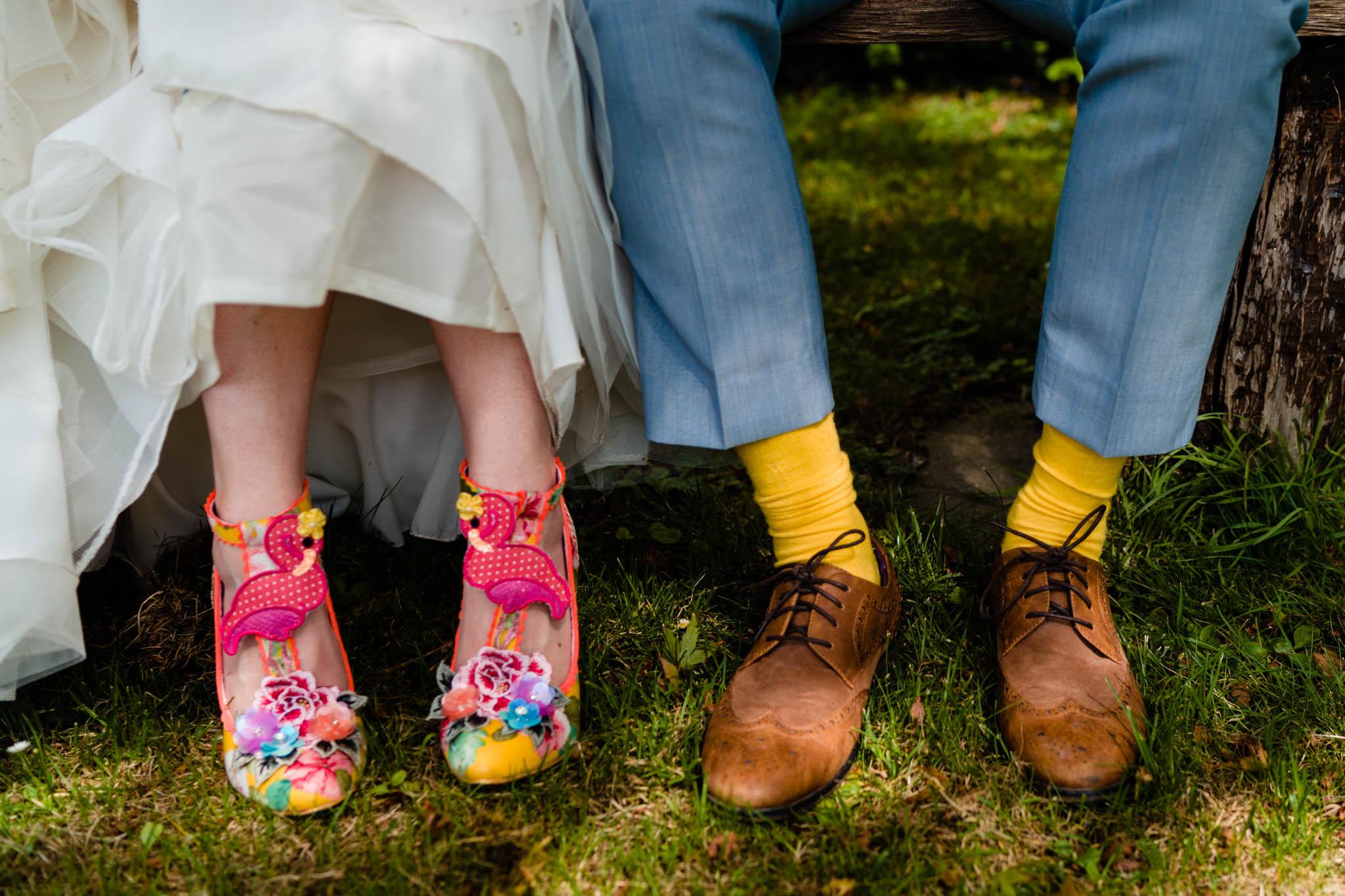 post lockdown weddings - covid wedding advice - quirky wedding shoes