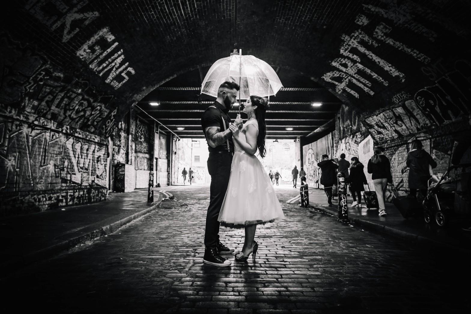 Urban Rockabilly Wedding - Urban Wedding - Magpie-Eye Photography- Unconventional Wedding- industrial wedding