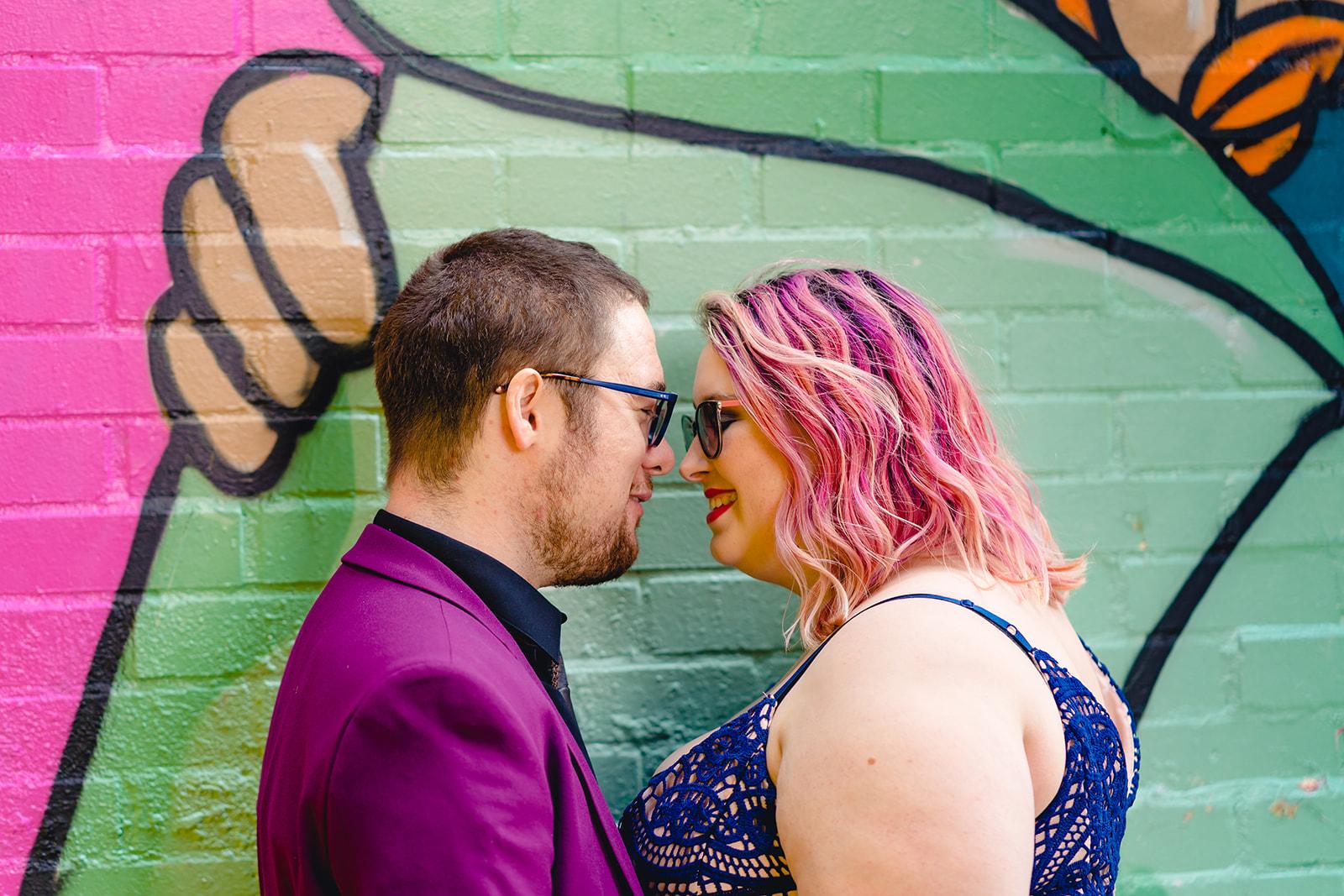 engagement shoots - birmingham engagement shoot - colourful wedding photoshoot - quirky wedding photos - fun wedding photography - alternative wedding