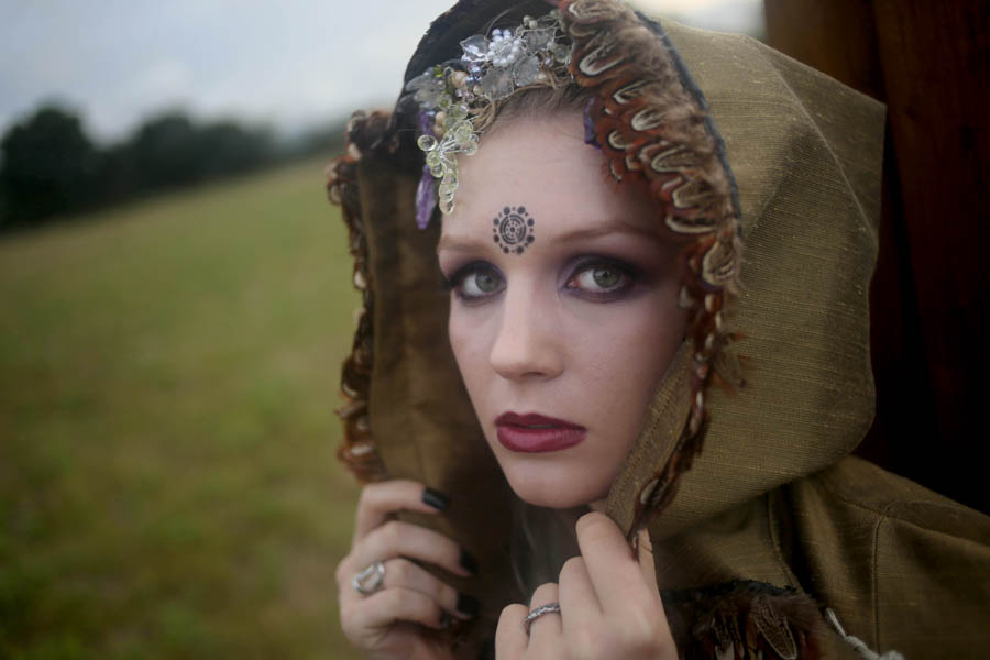 ethereal nature wedding - neopagan wedding - pagan wedding - witchy wedding - alternative bridal makeup - witchy bride - neo-pagan bride - gothic bridal look