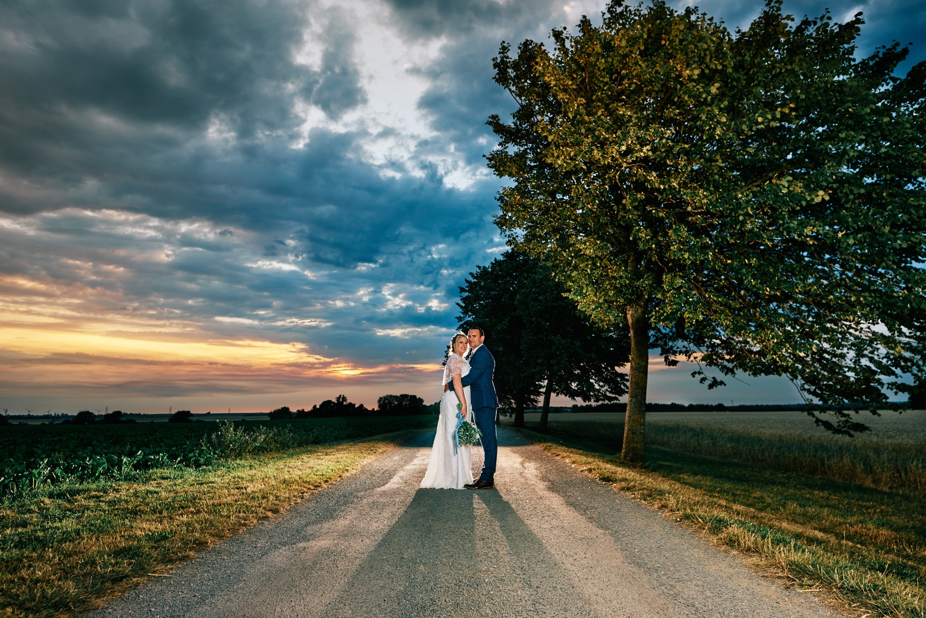 nhs wedding - paramedic wedding - blue and gold wedding - outdoor wedding - micro wedding - surprise wedding