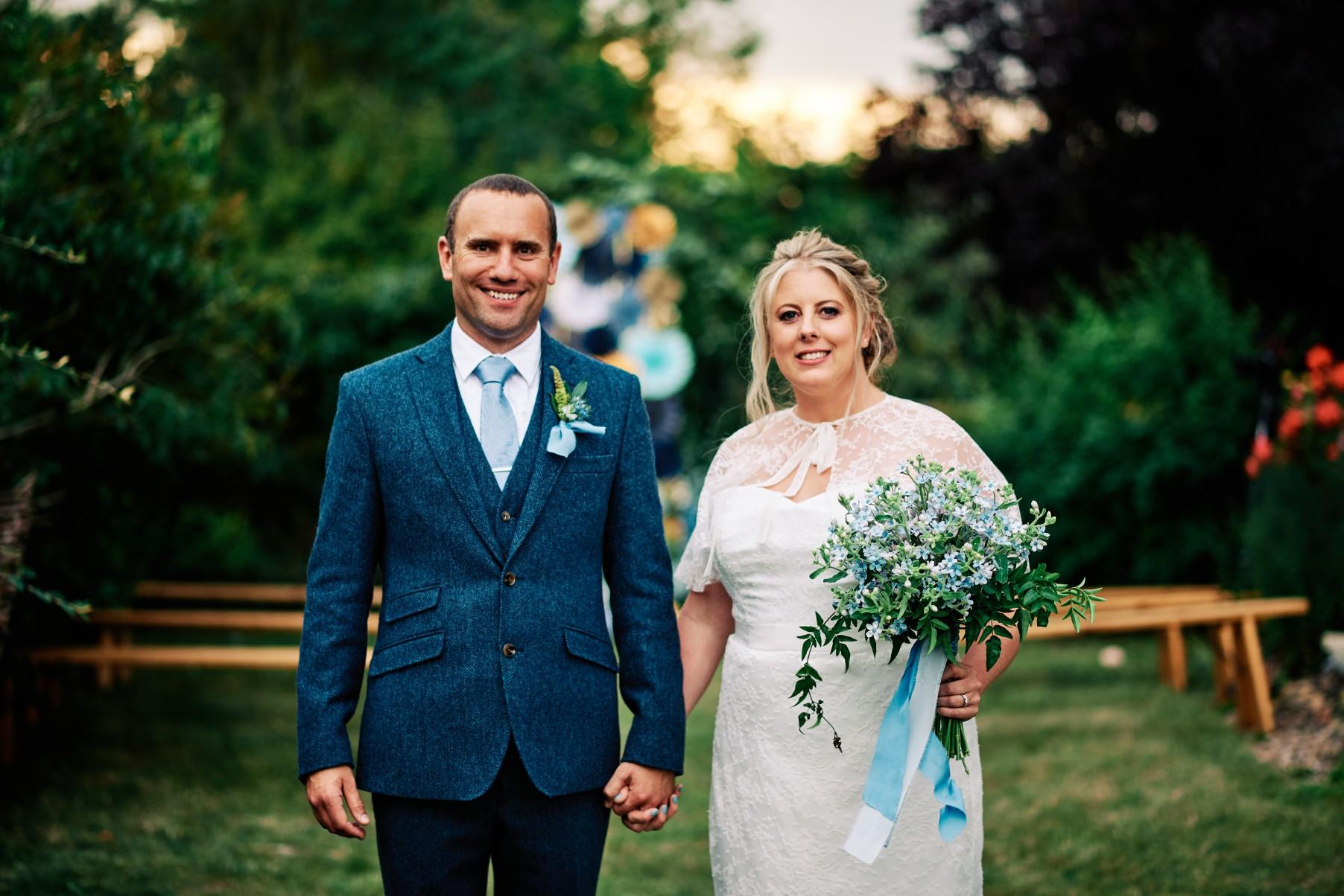nhs wedding - paramedic wedding - blue and gold wedding - outdoor wedding - micro wedding - surprise wedding - blue wedding