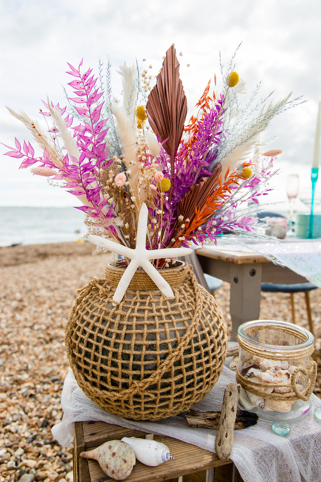 mermaid wedding - beach wedding - quirky wedding - unique wedding - alternative seaside wedding - alternative wedding - beach wedding flowers