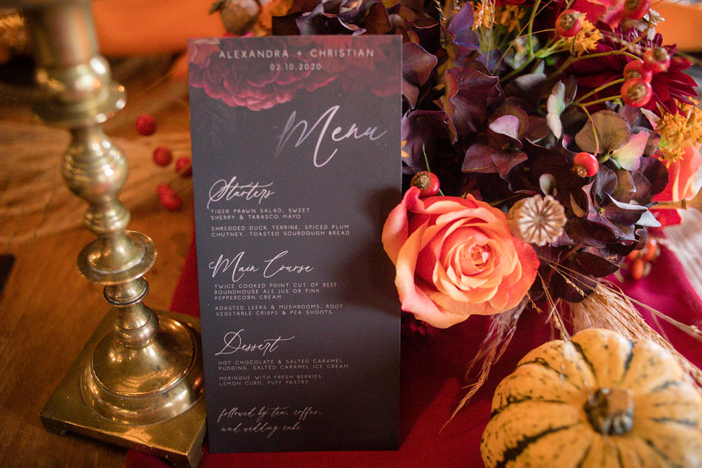 dark autumn wedding - autumnal wedding inspiration - autumn wedding stationery - autumn wedding invitations