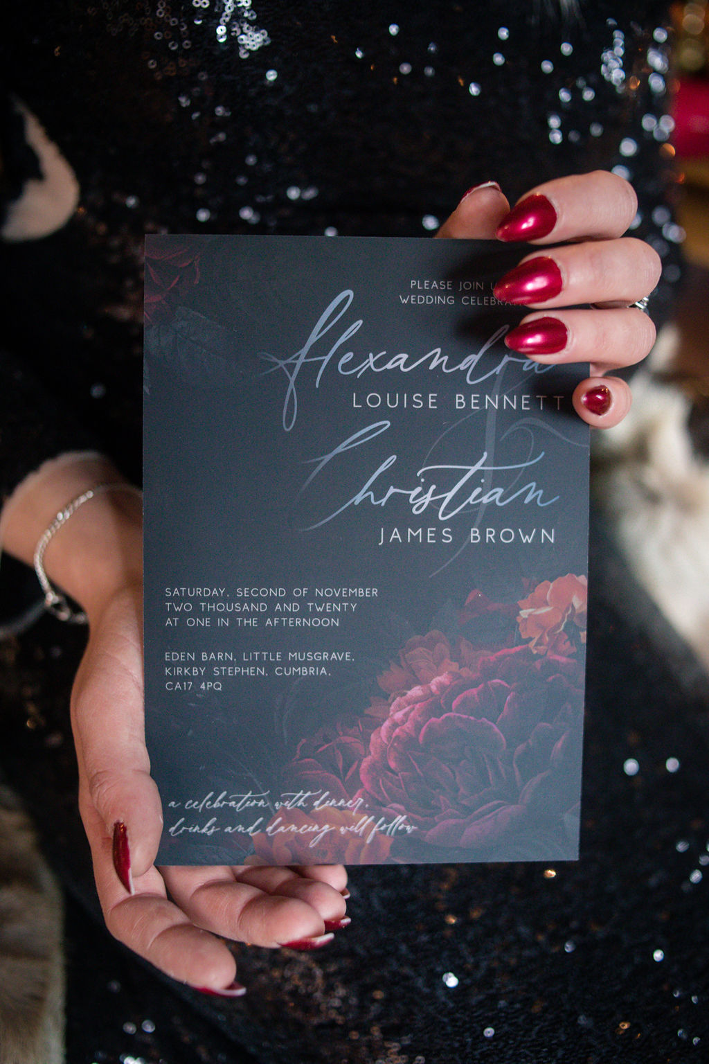 gothic wedding invitation- black wedding stationery - gothic wedding