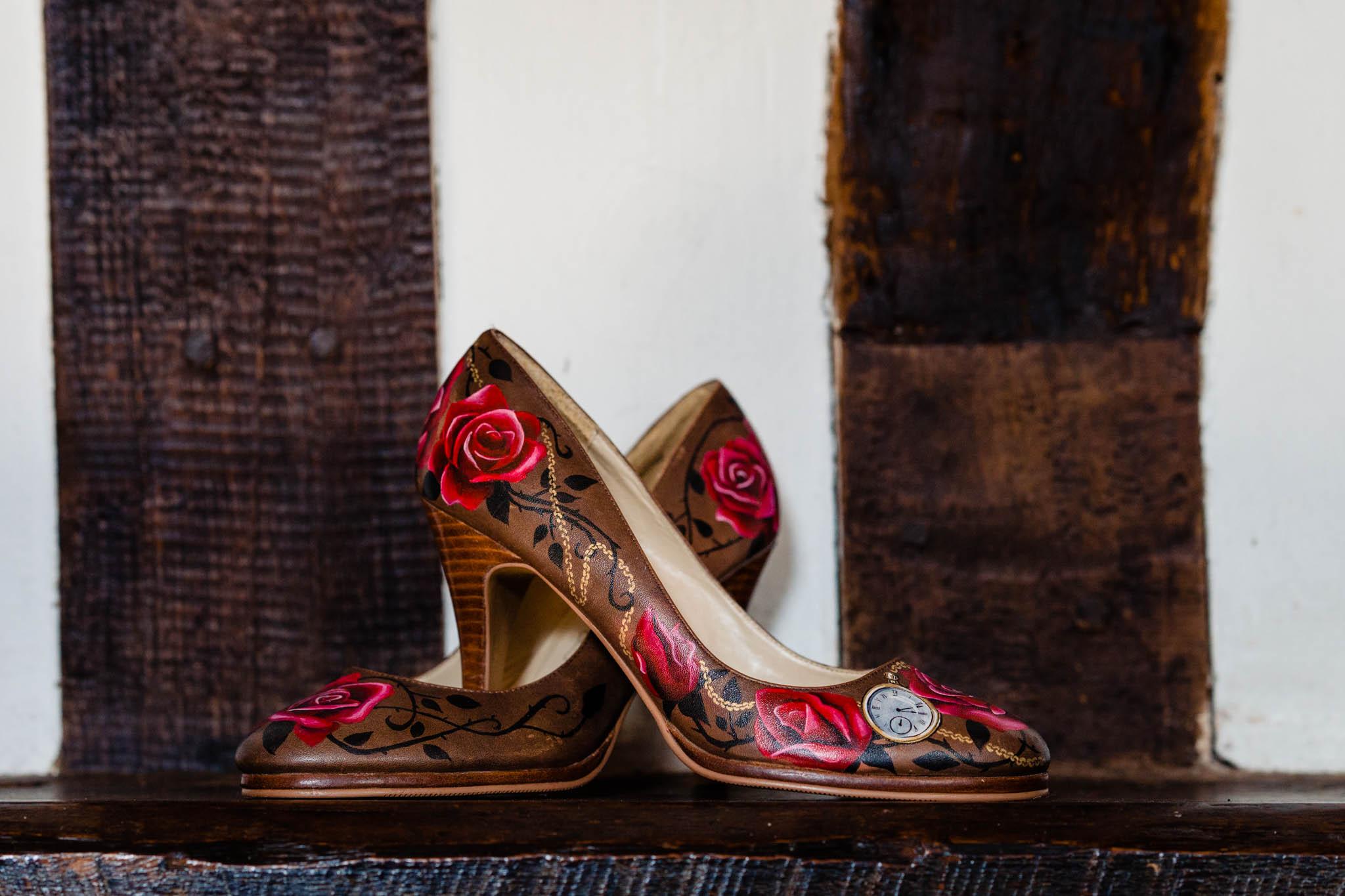 hand painted wedding shoes - bespoke wedding shoes