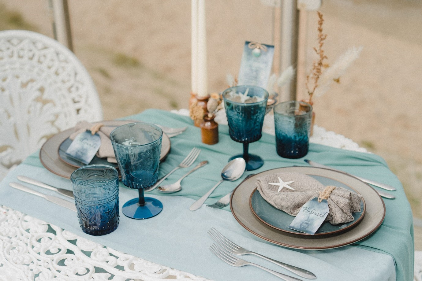 beach elopement - beach wedding - eco friendly wedding -tempest themed wedding - seaside wedding styling