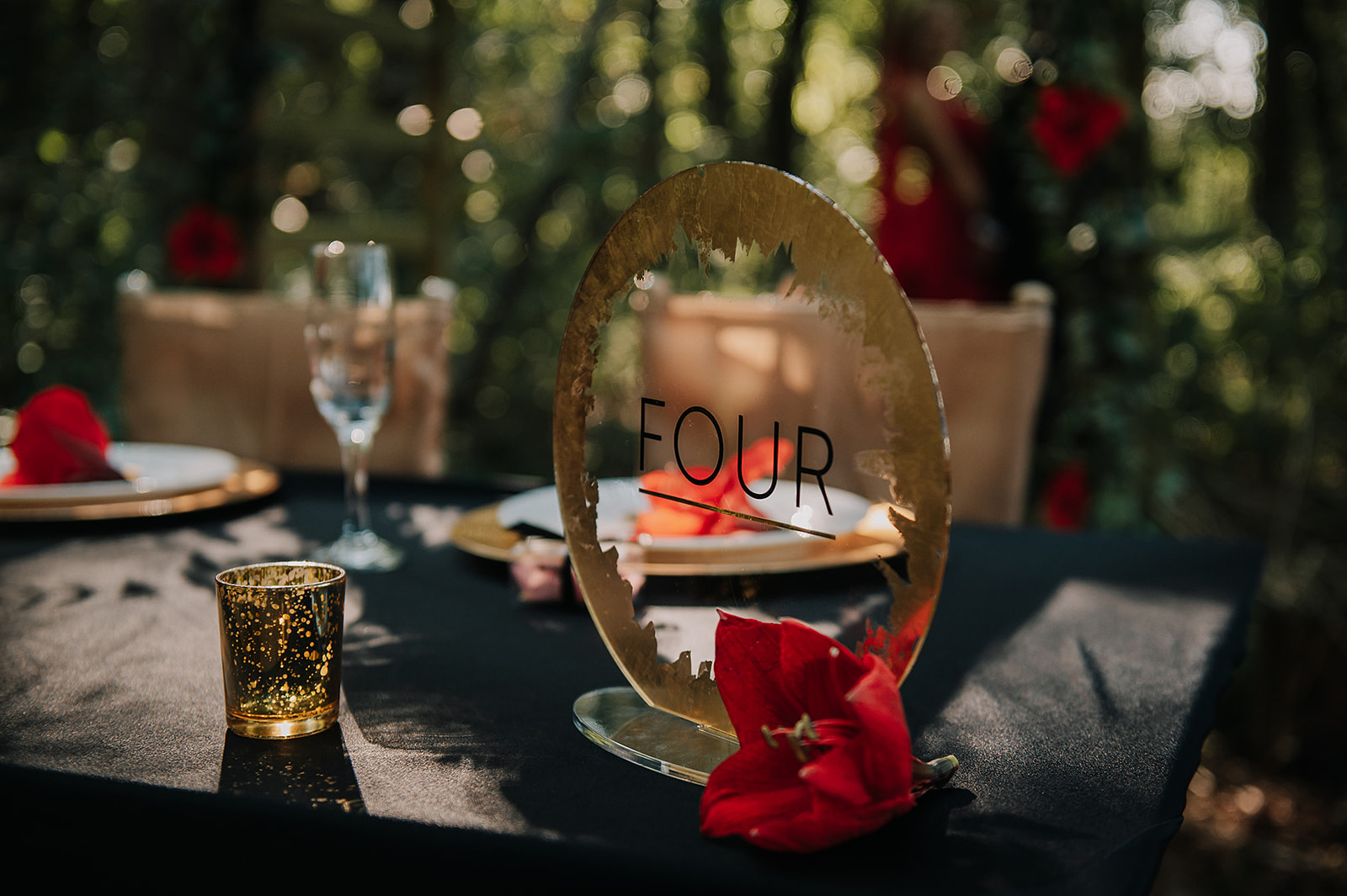 clear and gold wedding table number - luxurious wedding table numbers