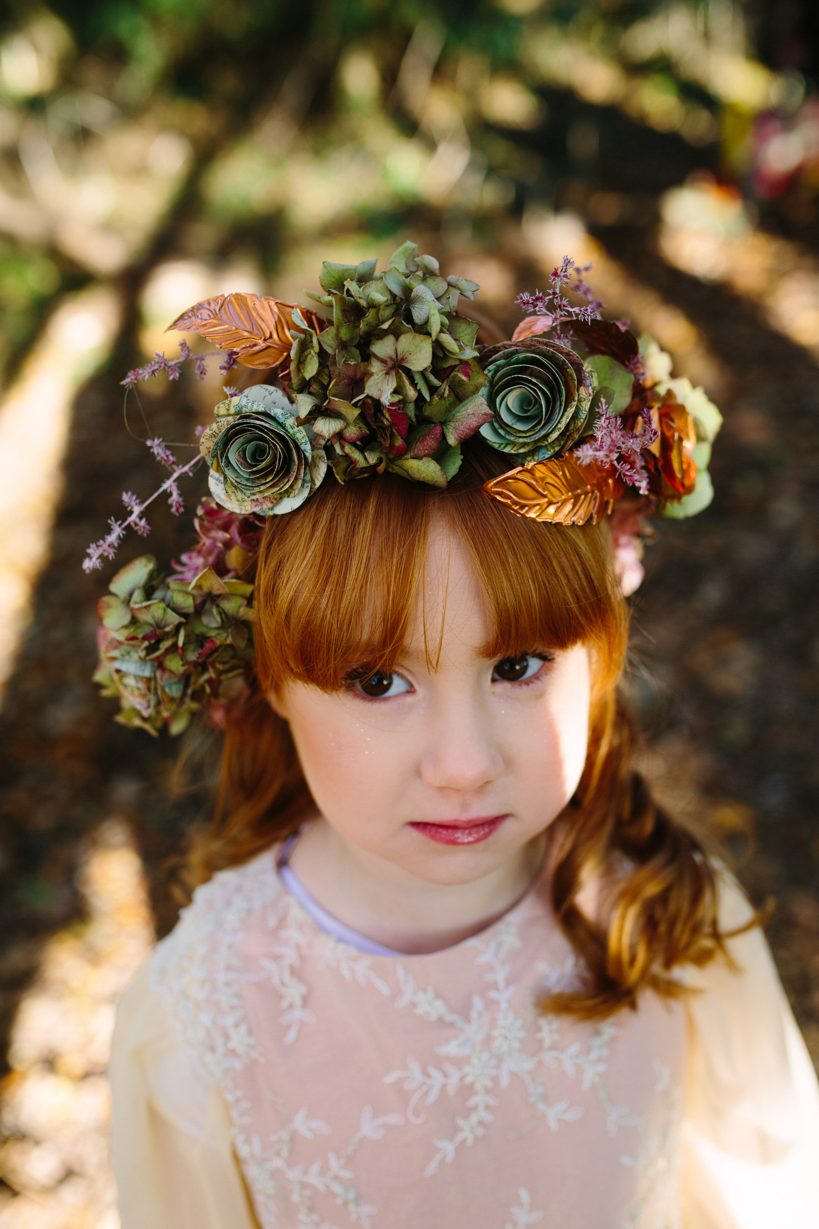 flower girl flower crown - bridesmaids flower crown - flower girl headband bespoke