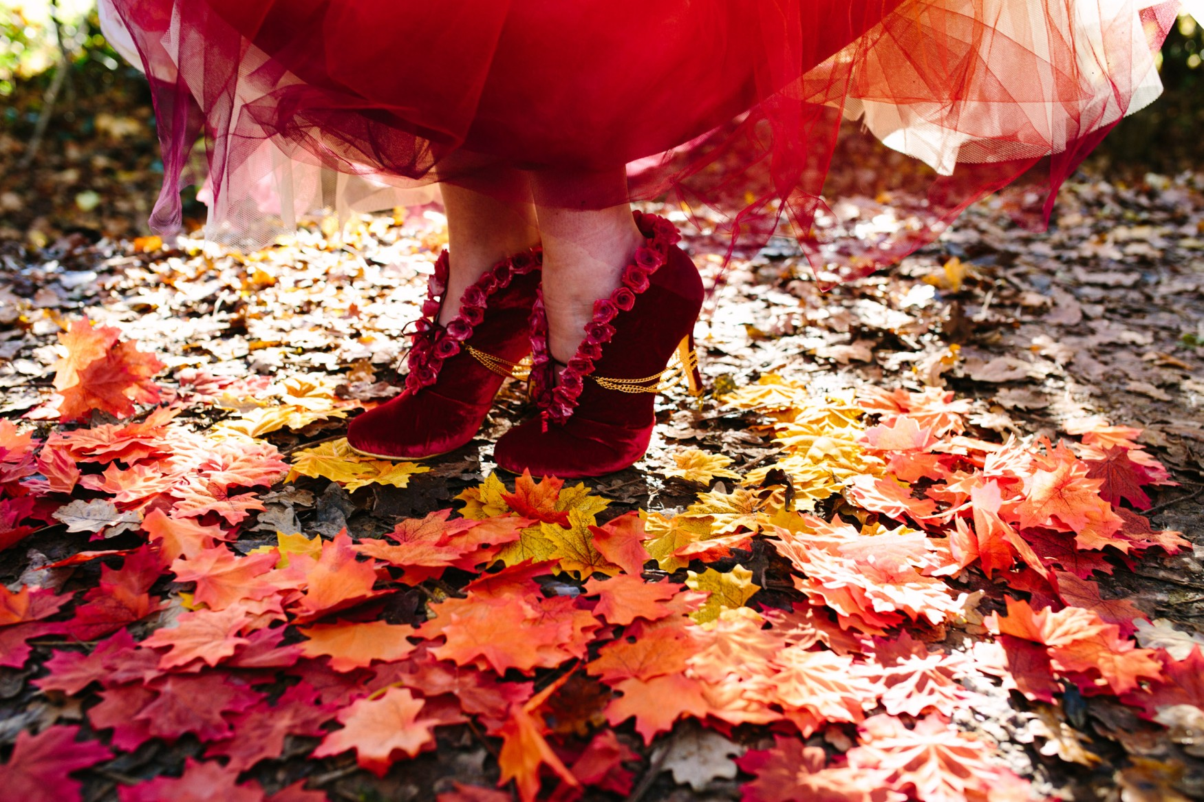 red wedding shoes - red velvet shoes - handmade shoes -
