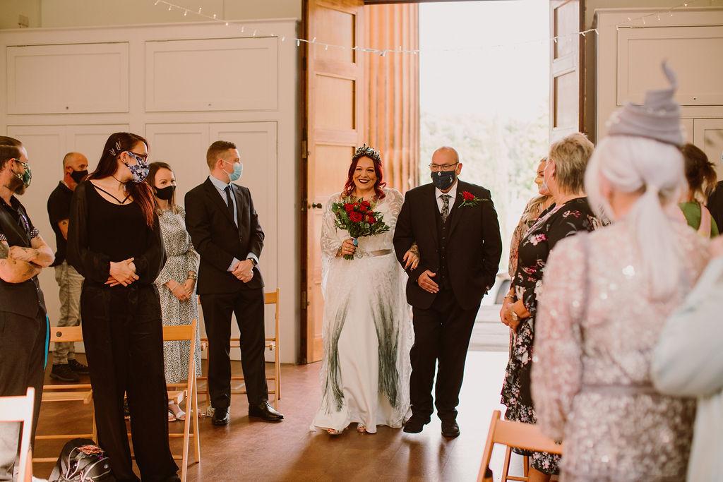 Alternative Micro Wedding at Arnos Vale - pandemic wedding ceremony