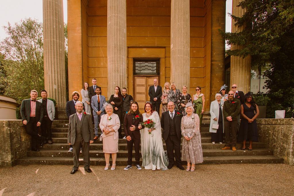 socially distant wedding photo - pandemic wedding - small wedding - covid wedding - micro wedding